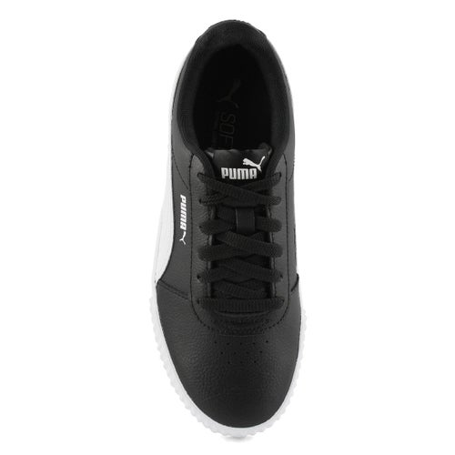 Lds Carina L blk/wht lace up sneaker