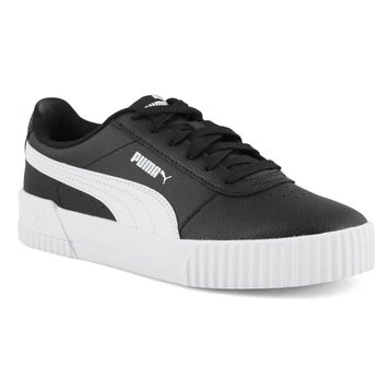 Women's CARINA black/ white lace up sneakers