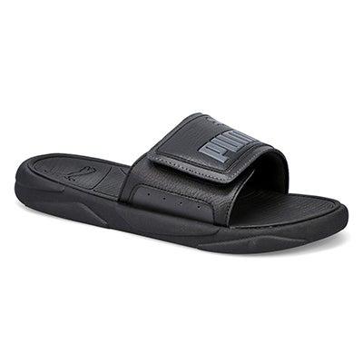 Mns Royal Cat blk/asphalt slide sandal