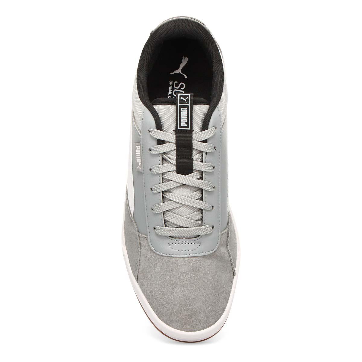Men's PUMA C-SKATE  quarry wht/blk sneakers