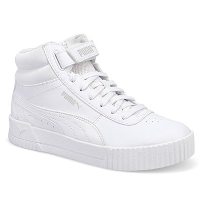 Lds Carina Mid Laceup Sneaker- White