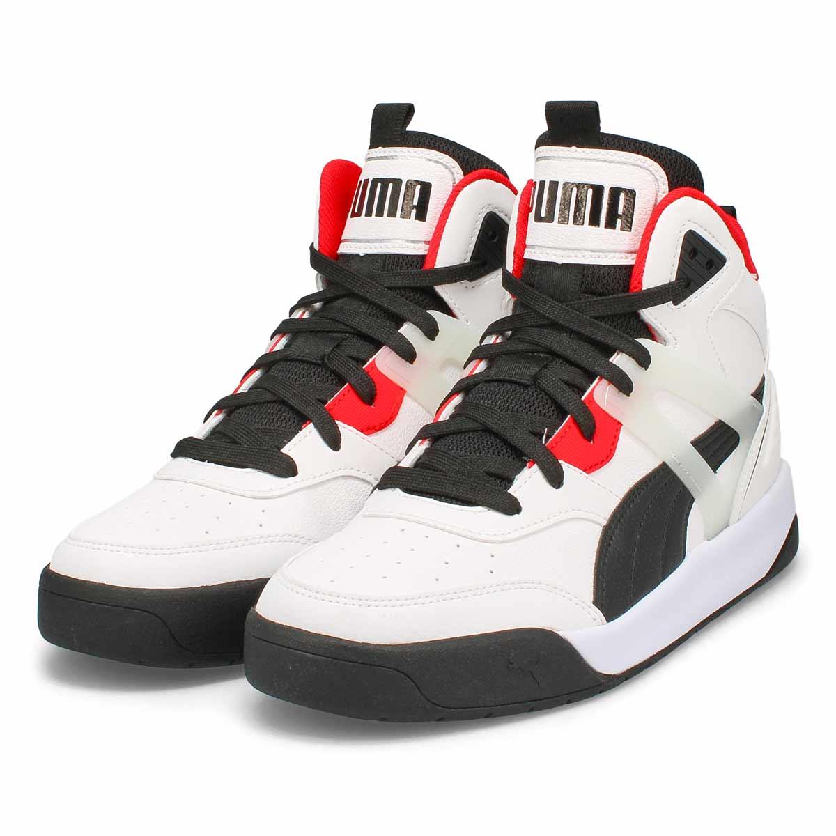 Men's Backcourt  Sneaker - White/ Red/Black