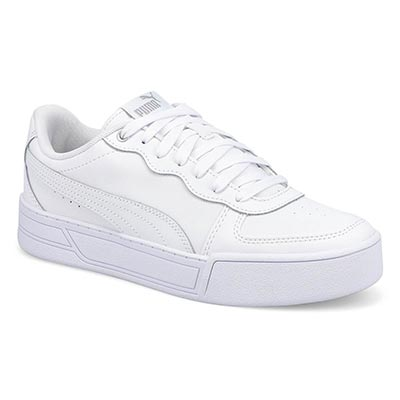 Lds Puma Skye Lace Up Snkr-White/White