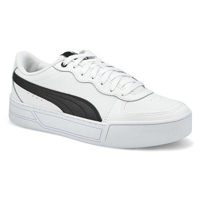 Lds Puma Skye Lace Up Snkr- White/Black