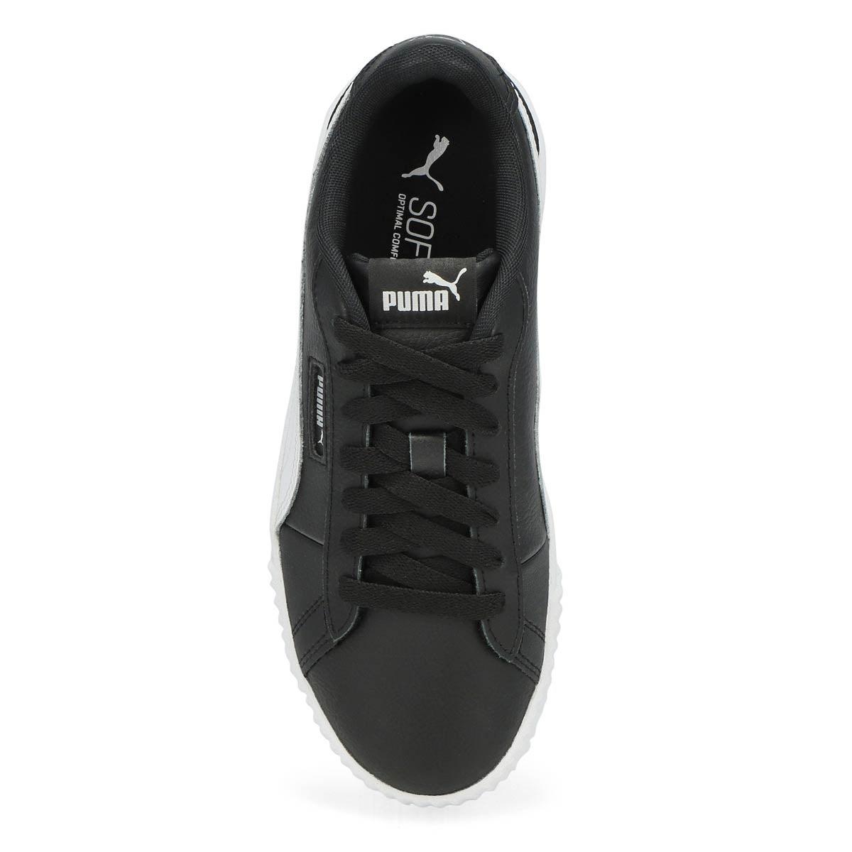 Women's Carina Crew lace up sneaker -  Black/White