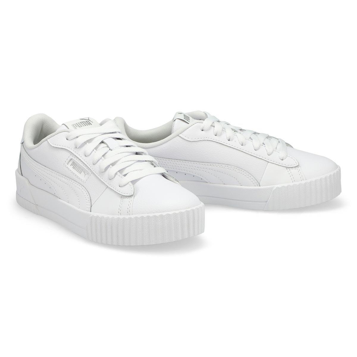 Women's Carina Crew Sneaker - White/White