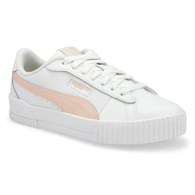 Women's CARINA CREW white/ cloud pink sneakers