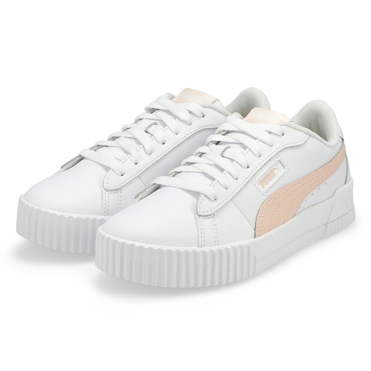 Women's Carina Crew Sneaker - White/Cloud Pink
