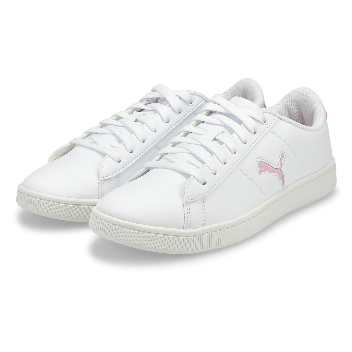Women's Puma Vikky V2 Cat Sneaker - White/Pink