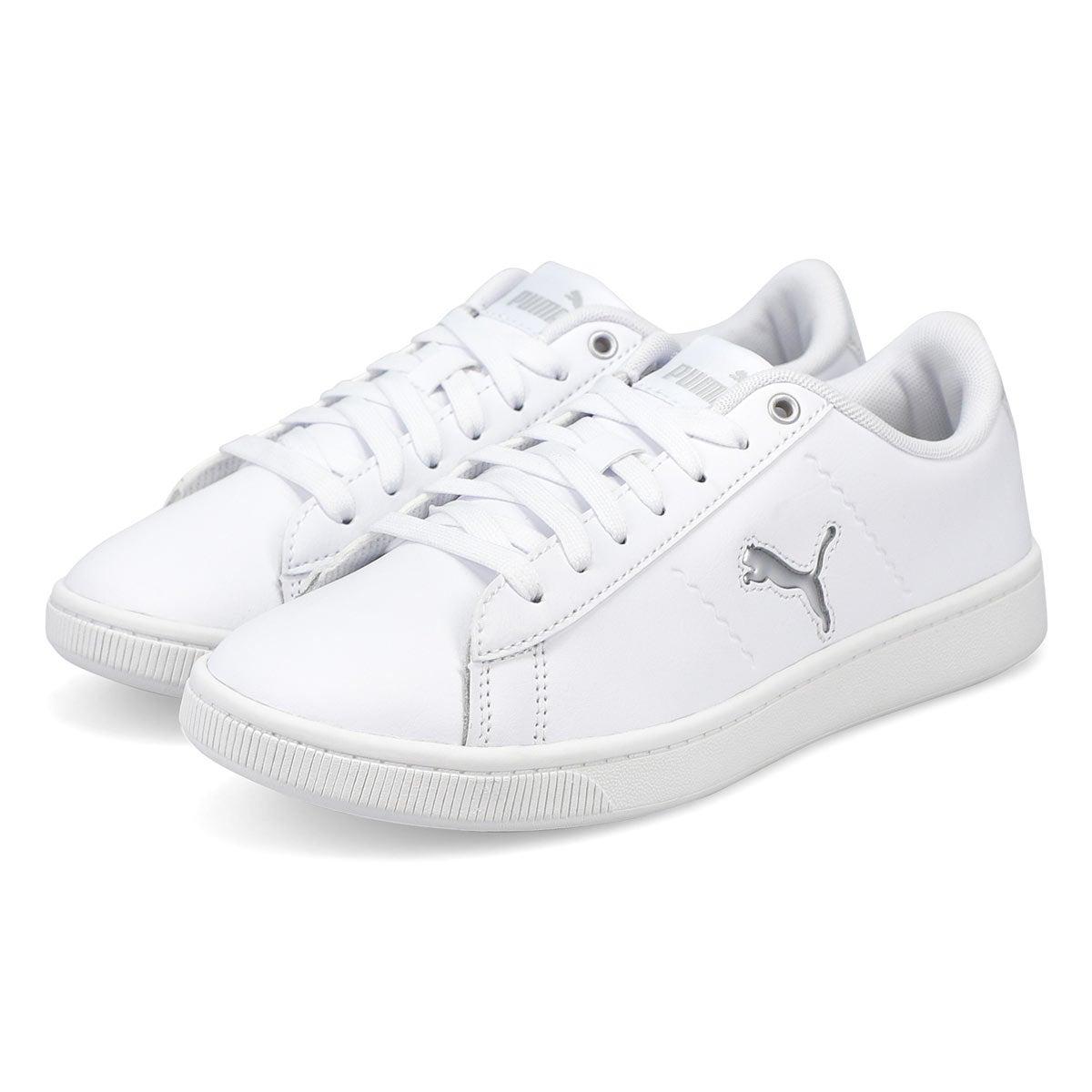 Women's Puma Vikky V2 Cat Sneaker-metallic wht/gy