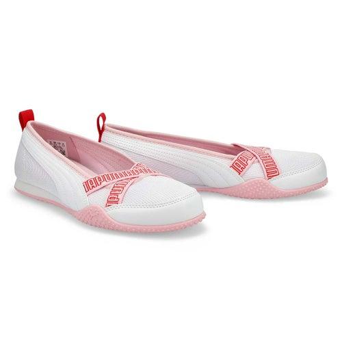 Lds Bella Ballerina white/pink lady snkr