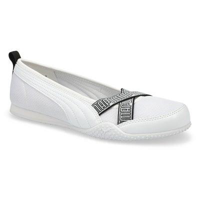 Lds Bella Ballerina white/white snkr