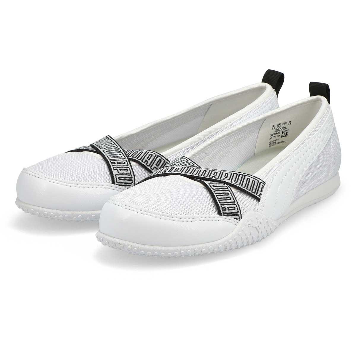 Women's Bella Ballerina Sneaker - White/ White