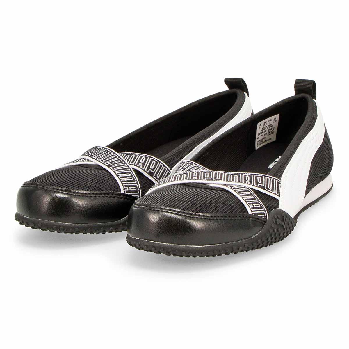 Women's Bella Ballerina Sneaker - Black/White