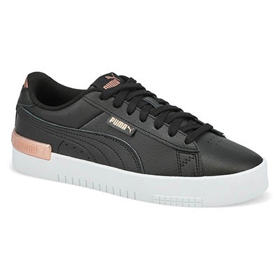 Lds Jada Lace Up Sneaker-Blk/Rse Gld/Wht