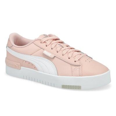 Lds Jada Lace Up Sneaker- Peyote/White