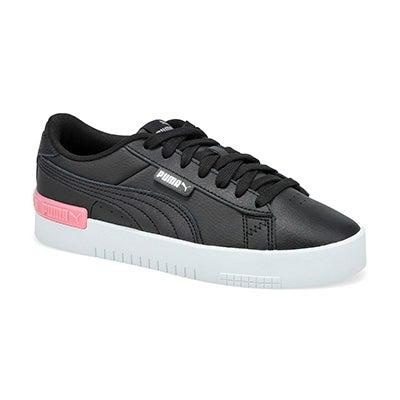 Grls Puma Jada Jr Sneaker-Blk/Slvr/Peony