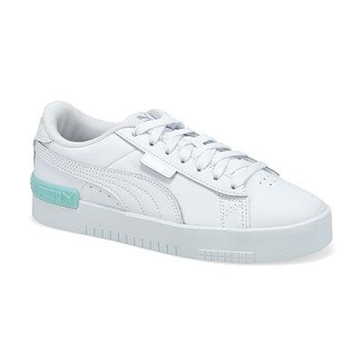 Grls Puma Jada Jr Sneaker-Wht/Slv/Blue