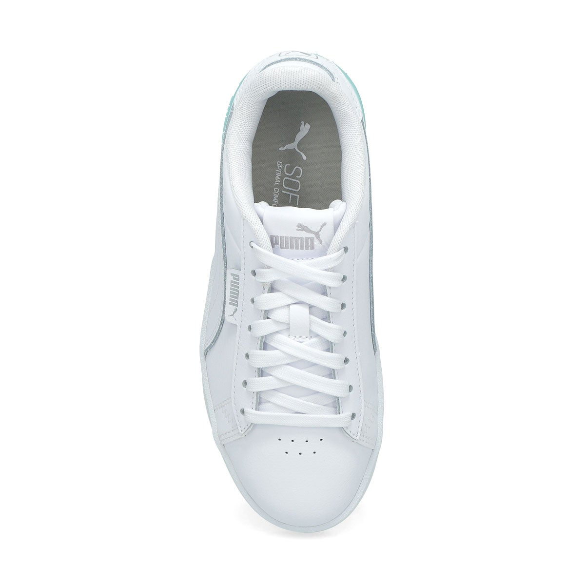 Girls' Puma Jada Jr Sneaker-White/Silver/Blue