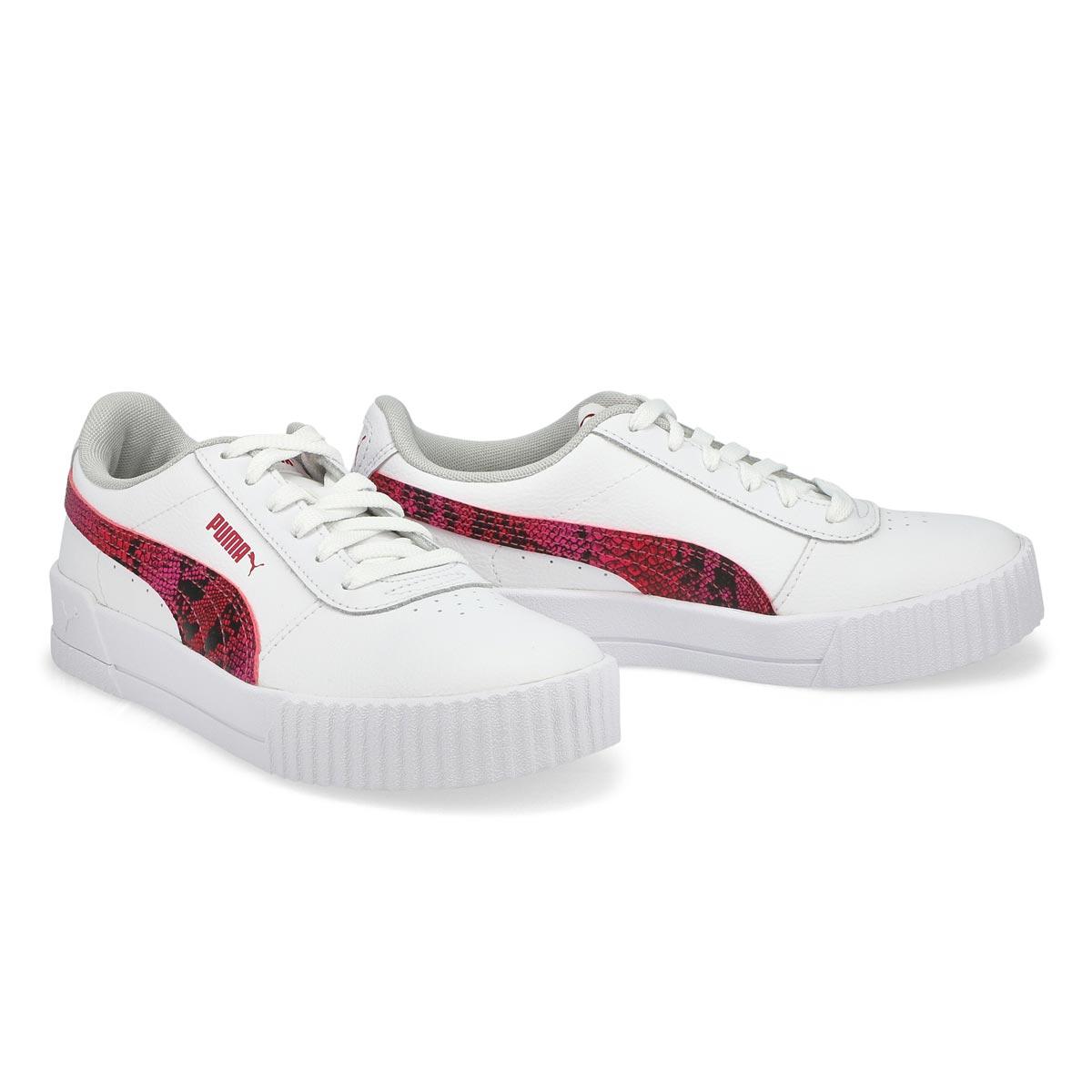 Women's Carina L Snake FS Sneaker - White /Red