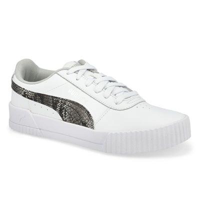 Lds Carina L Snake FS Sneaker-White/Grey