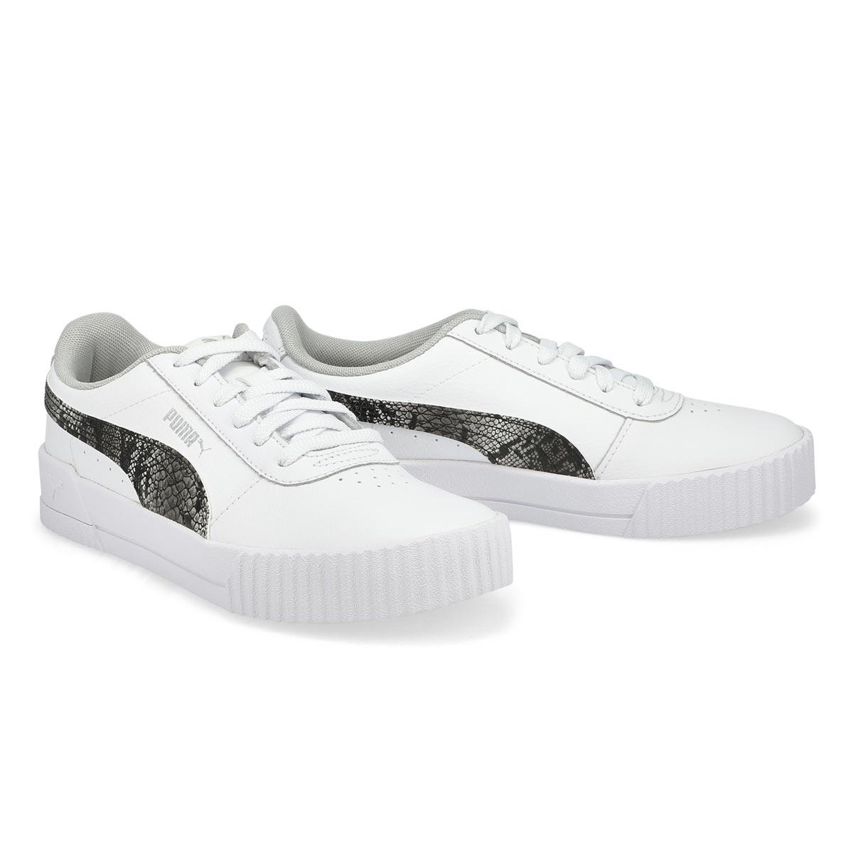 Women's Carina L Snake FS Sneaker - White/Grey