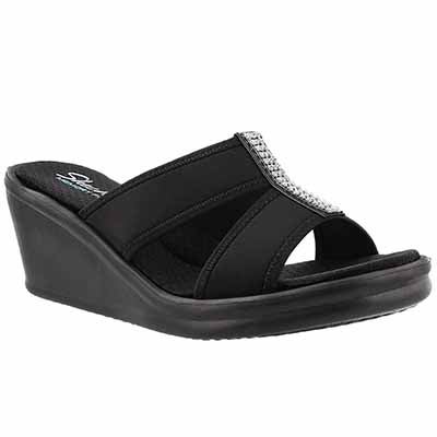 Lds Risk Taker black wedge sandal
