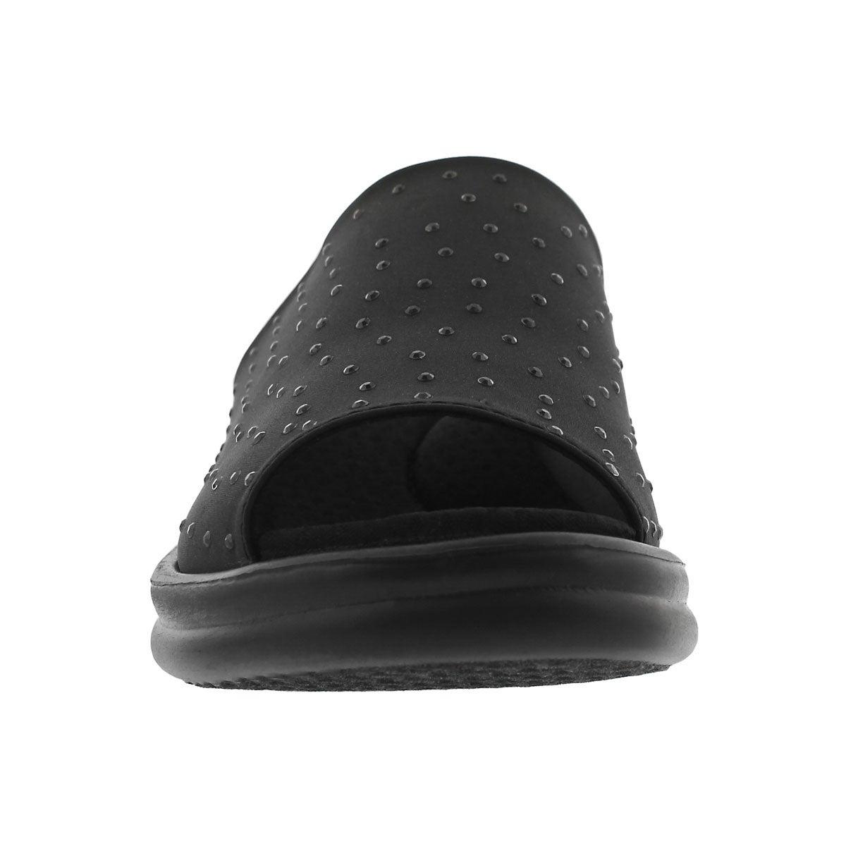 Women's Rumblers Silky Smooth Wide Sandal - Black