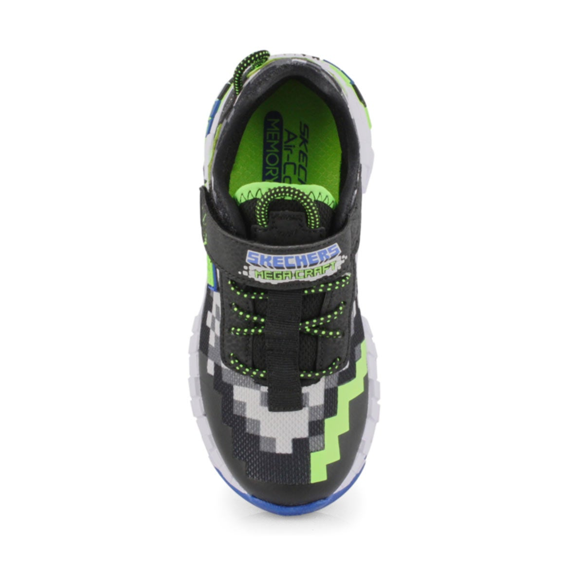 Boys' Mega-Craft Sneakers - Black/Lime
