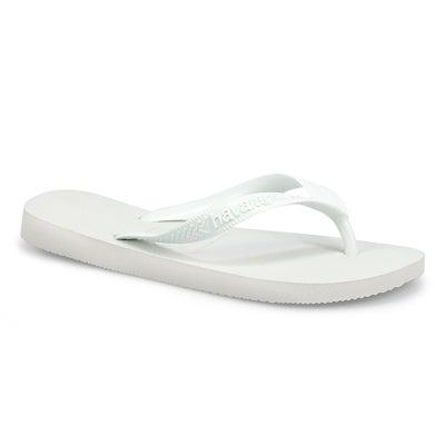 Lds Top white flip flop
