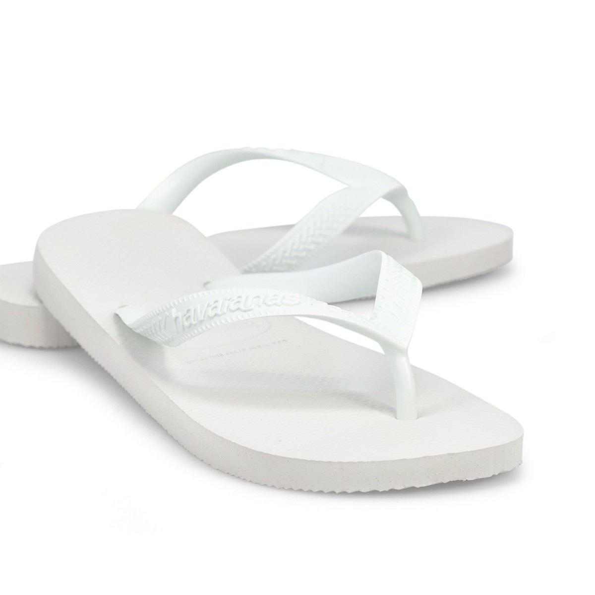 Women's Top Flip Flops - White