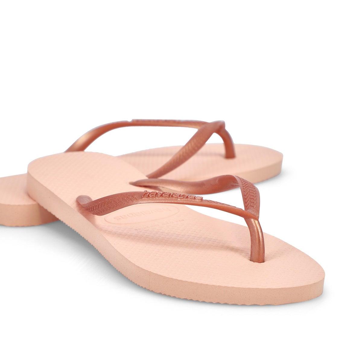 Women's Slim Flip Flops - Ballet Rose