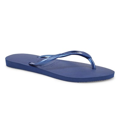 Lds Slim navy blue flip flop