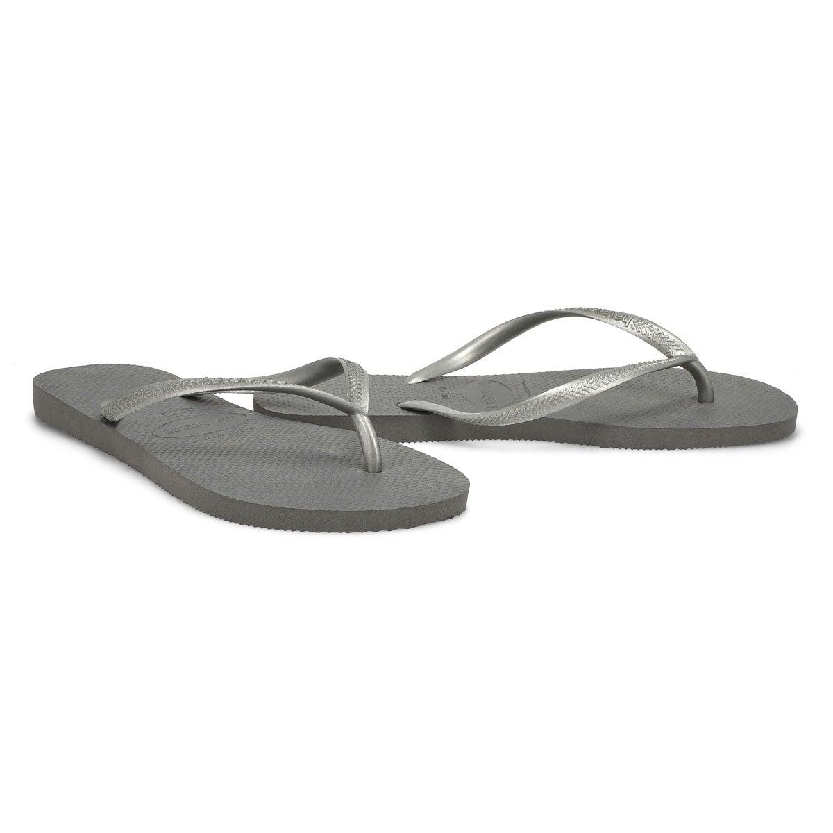 Women's Slim Flip Flop - Steel Grey