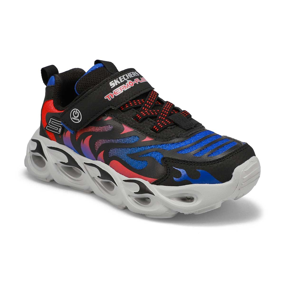 Boys' Thermo-Flash Light Up Sneakers - Black/Blue