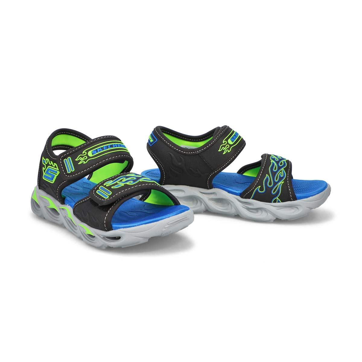 Boys' Thermo-Splash Sandal - Black/Blue/Lime