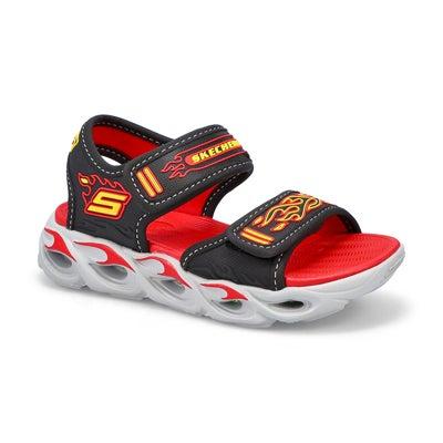 Bys Thermo-Splash black/red strap sandal