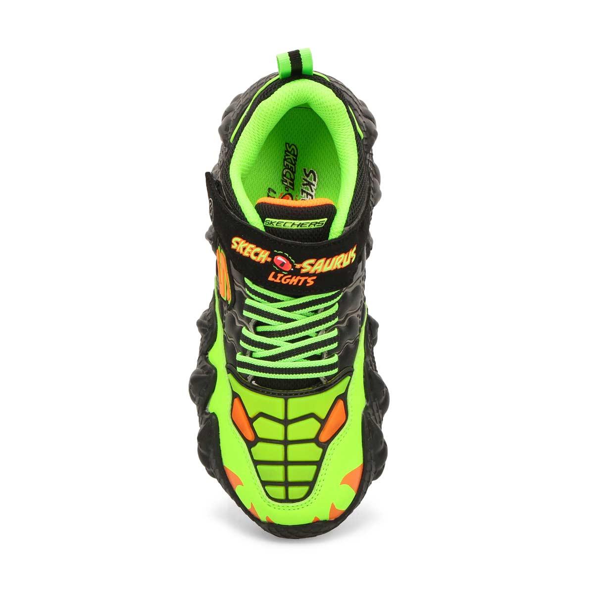 Boys' Skech-O-Saurus Sneakers - BlackLlime