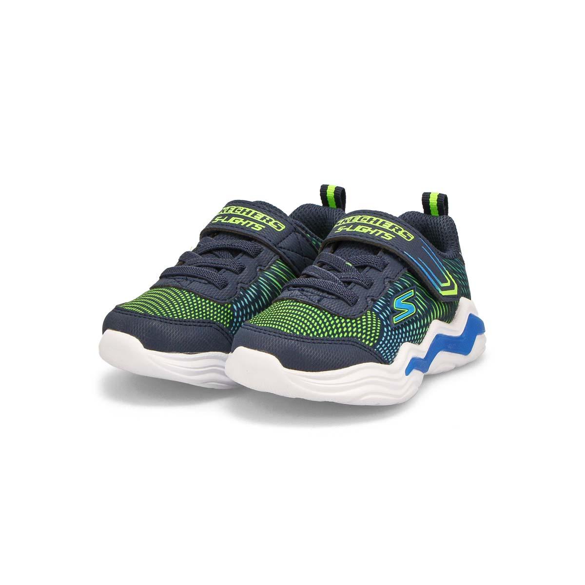 Infants' Erupters IV light up sneaker - Navy/Lime