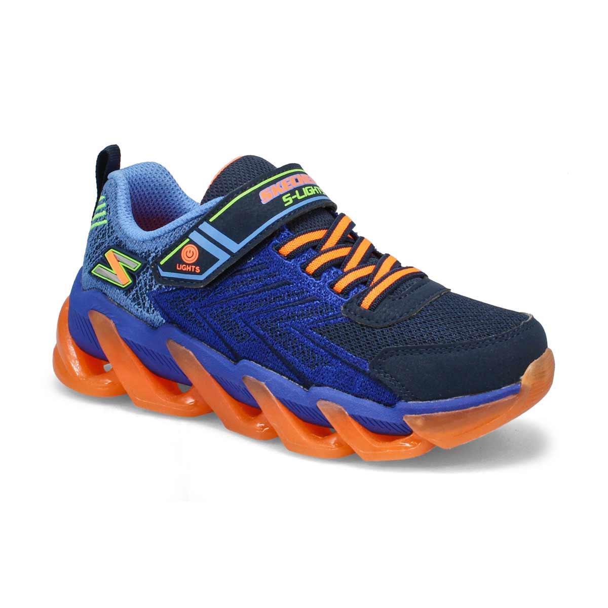 Boys' Mega-Surge Sneakers - Navy/Orange