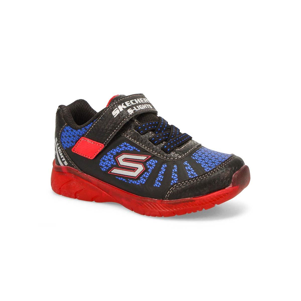 Infants' Illumi-Brights Tuff Track sneaker -Bk/Bl