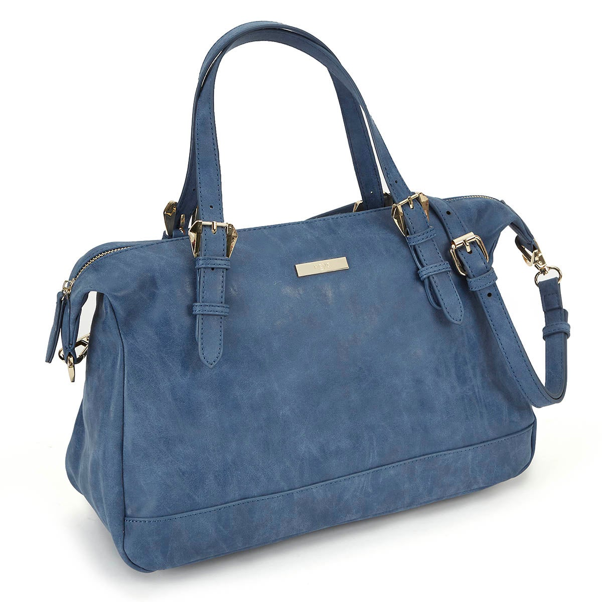 Lds Vintage denim blue satchel