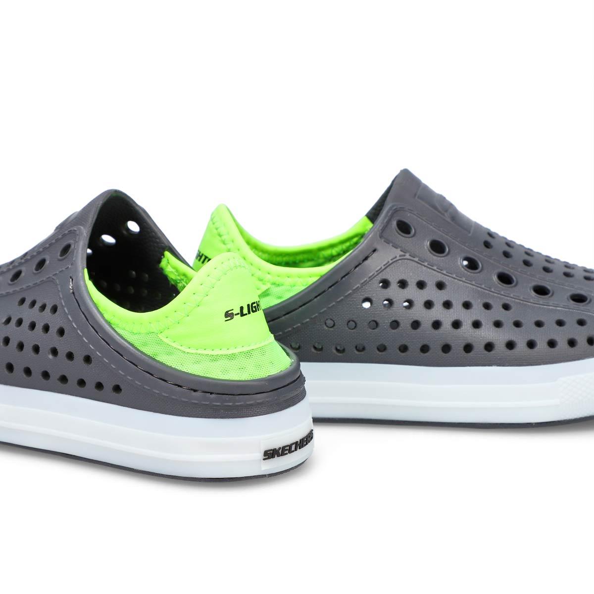 Boys' Guzman Flash Lighted Shoe - Charcoal/Lime