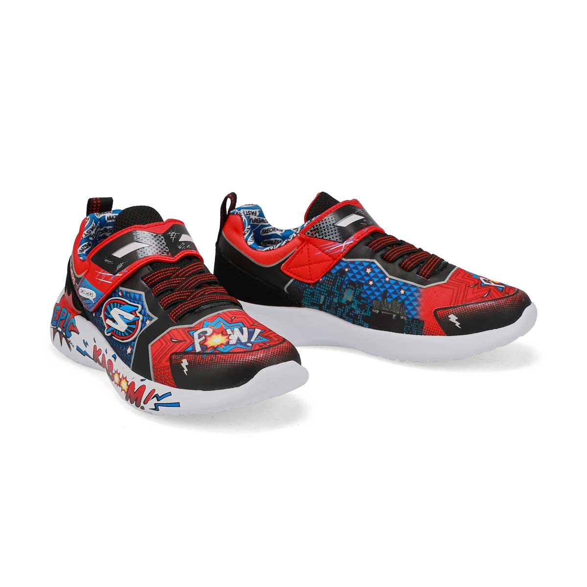 Boys' Dynamight Defender Squad Sneakers - Red/Blk