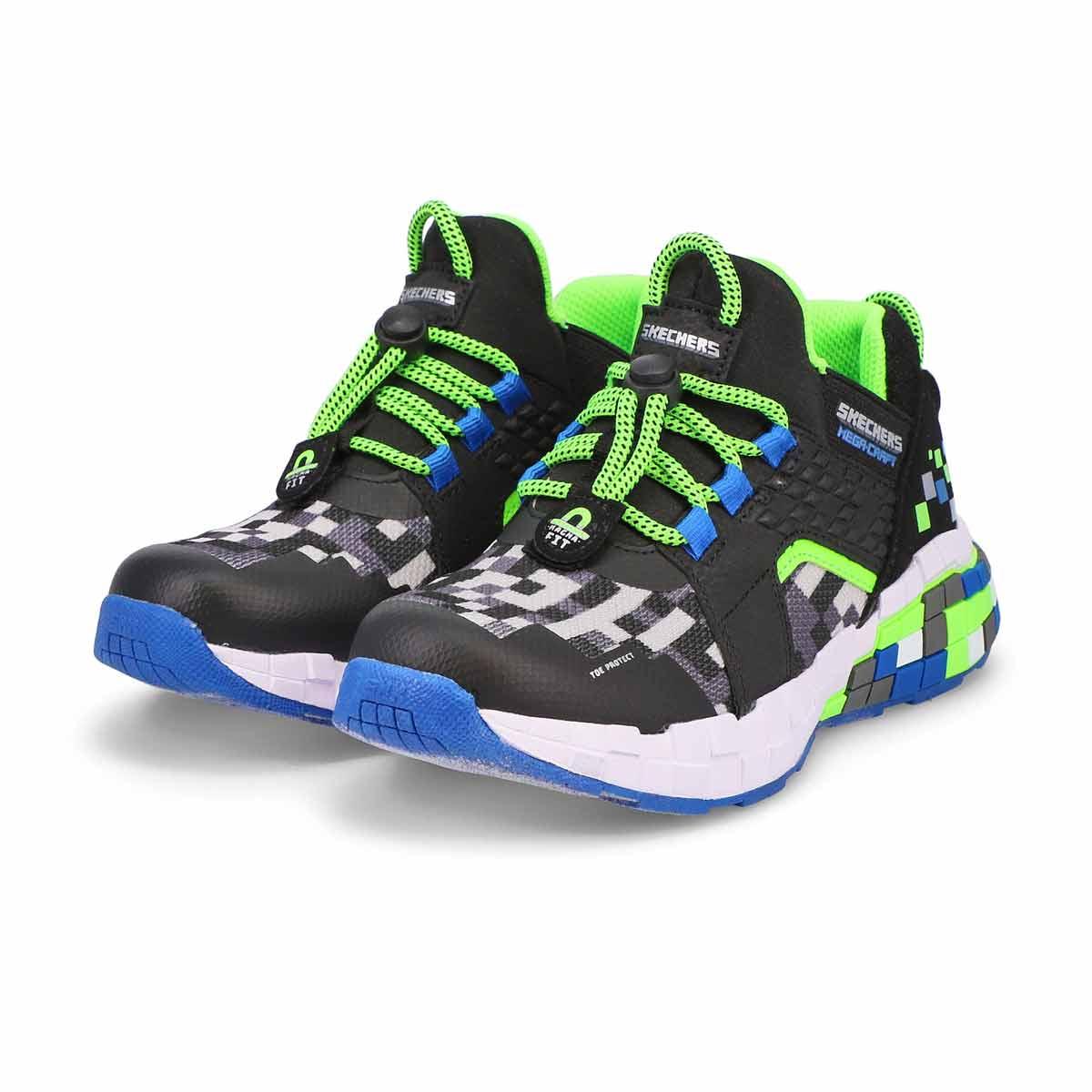 Boys' Mega-Craft Cubozone Sneaker - Black/Lime