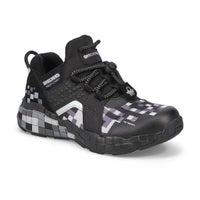 Boys' Mega-Craft Cubozone sneaker - black/charcoal