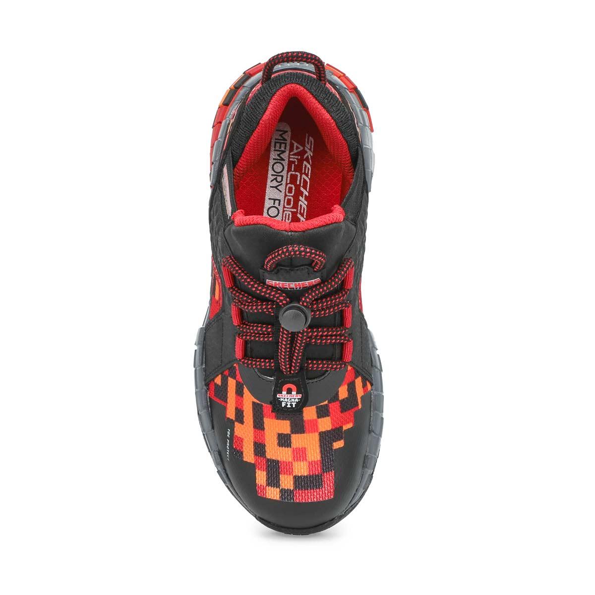 Boys' Mega-Craft Cubzone Sneaker - Black/Red