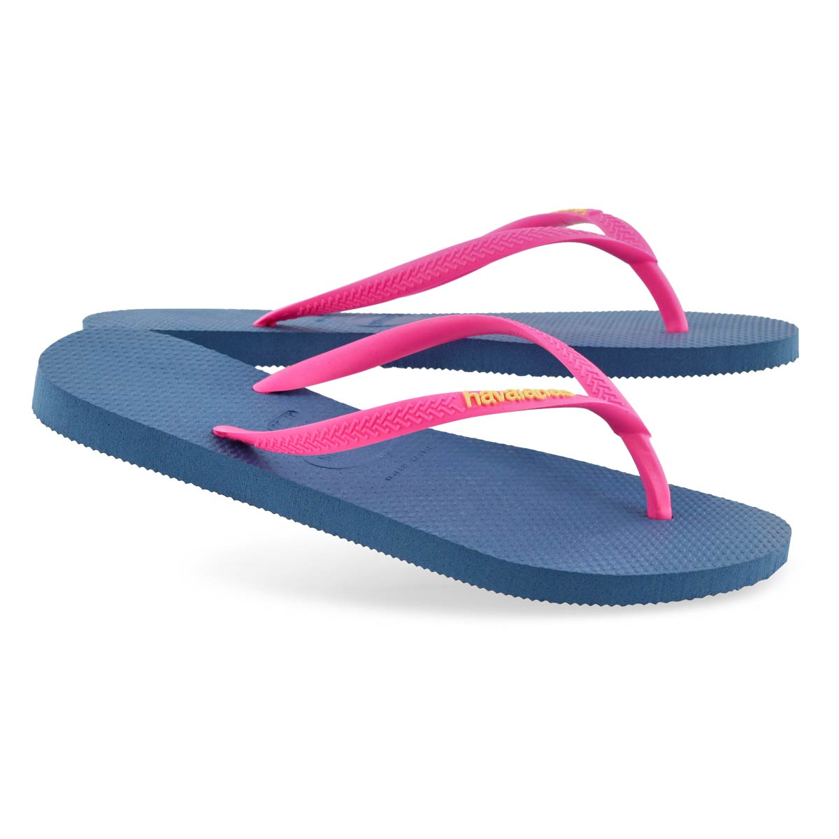 Women's Slim Logo Pop Up Flip Flop - Blue
