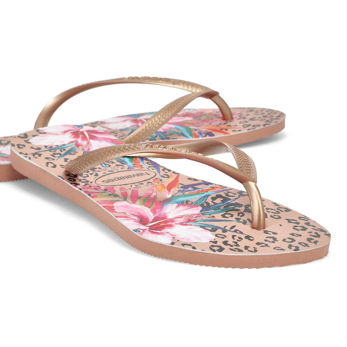 Women's Slim Animal Floral Flip Flop - Crocus