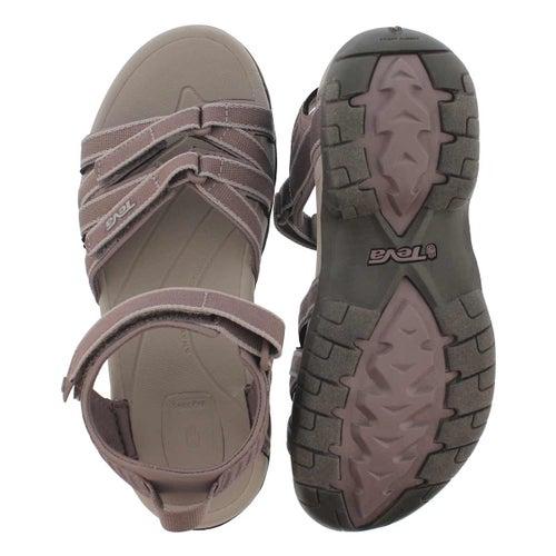 Lds Tirra plum truffle sport sandal